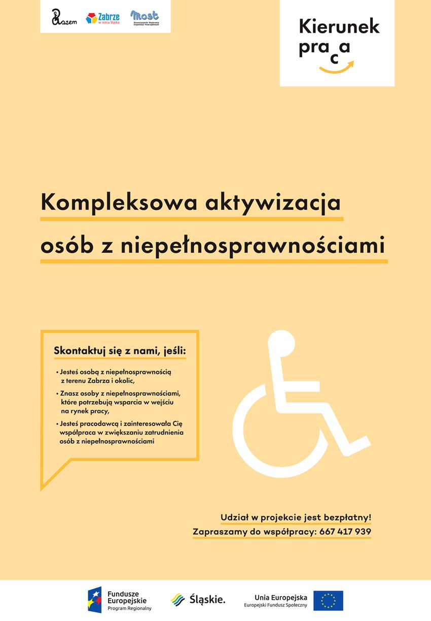 plakat projektu kierunek praca