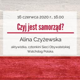 Czyj jest samorząd? – zaproszenie na webinarium w dniu 16 czerwca 2020 r.