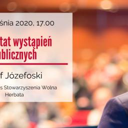 Warsztat wystąpień publicznych – webinarium w dniu 22 września 2020 r.