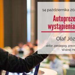 """Szkolenie w Tychach pt.: """"Autoprezentacja i wystąpienia publiczne"""" – 14 października"""