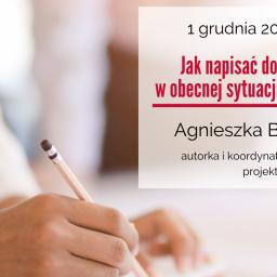Jak napisać dobry projekt w obecnej sytuacji gospodarczej? – webinarium w dniu 1 grudnia 2020 r.