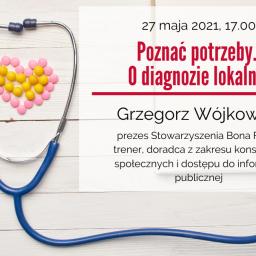 Poznać potrzeby. O diagnozie lokalnej – zaproszenie na webinarium w dniu 27 maja 2021 r.